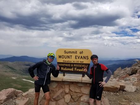 Ross and I at the Mt. Evans Summit!