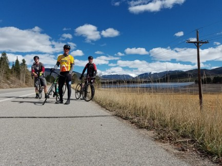Left to Right Vince, Ben, Myself on the shore of Lake Dillon